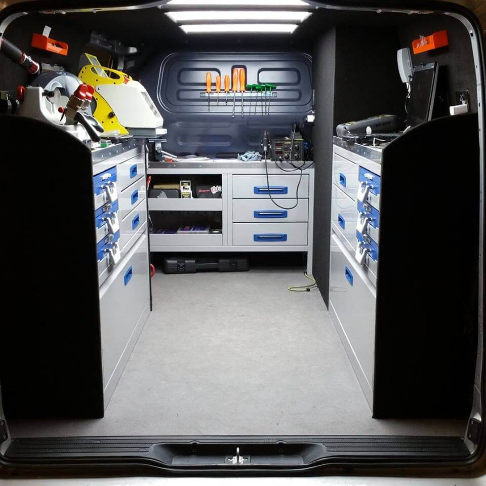 inside view of locksmith van